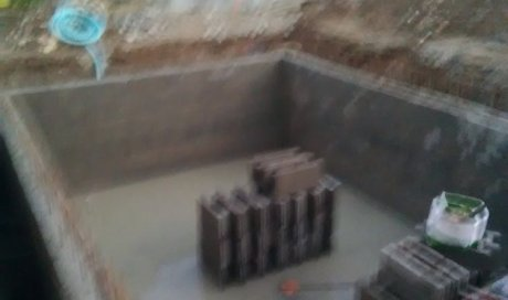 construction de un piscine