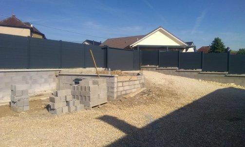 Construction mur clôture Romagnieu